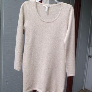 Luna Oatmeal Wool Blend Tunic long sleve Sweater M